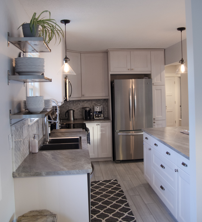 Before and After - DIY Kitchen Renovation