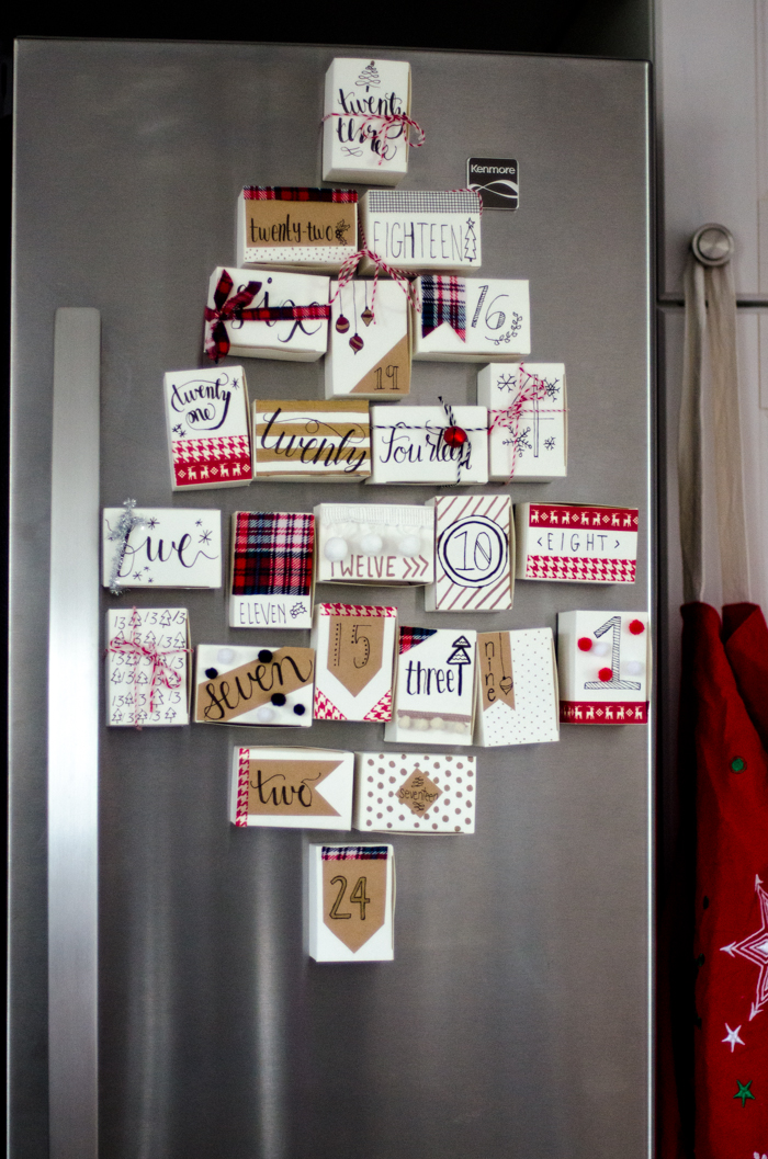 DIY Magnetic Advent Calendar