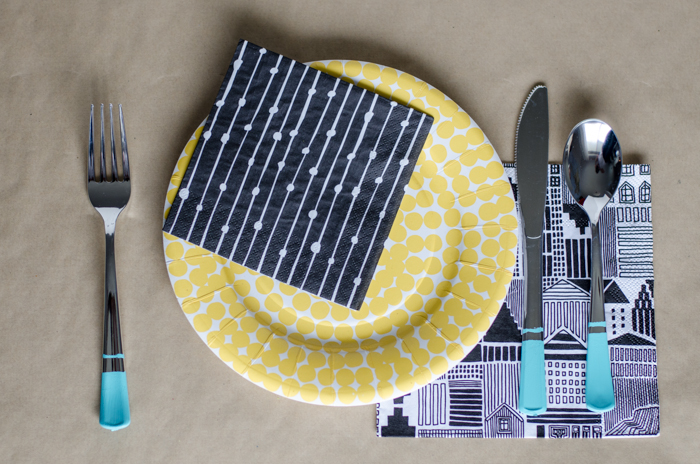 DIY Painted Plastic Party Cutlery! What a fun idea to add a punch of colour