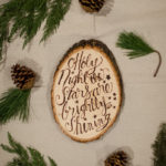 DIY Holiday Lyrics Wood Slice