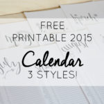 2015 Free Printable Calendar Early Release
