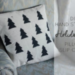 Simple Tree Stamped Pillow Slip Cover