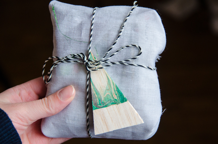 DIY Hand Marbled Ornaments and Tags 3 ways!