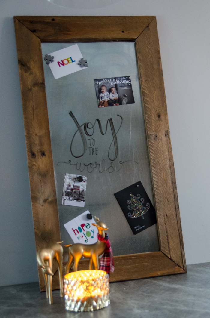 DIY Metal 'Whiteboard' for a meal plan!