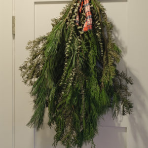 DIY Holiday Bough with fresh greens