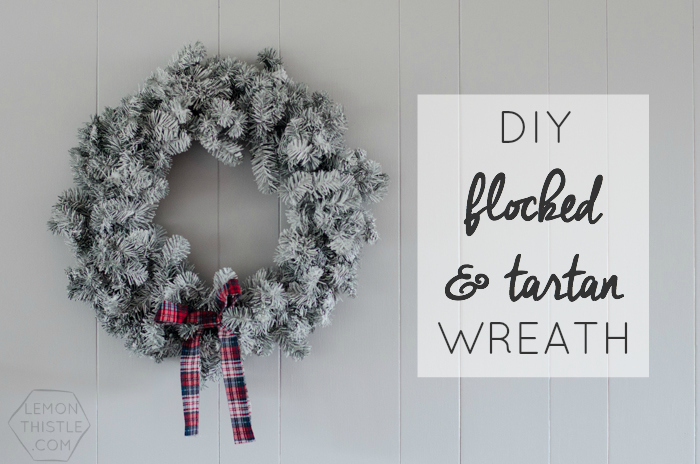 DIY Flocked and Tartan Wreath