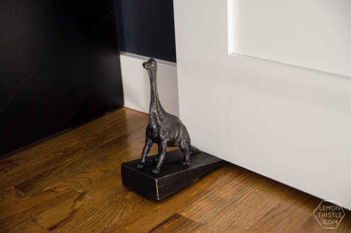 DIY Dinosaur Door Stop- An Anthropologie Knock Off!