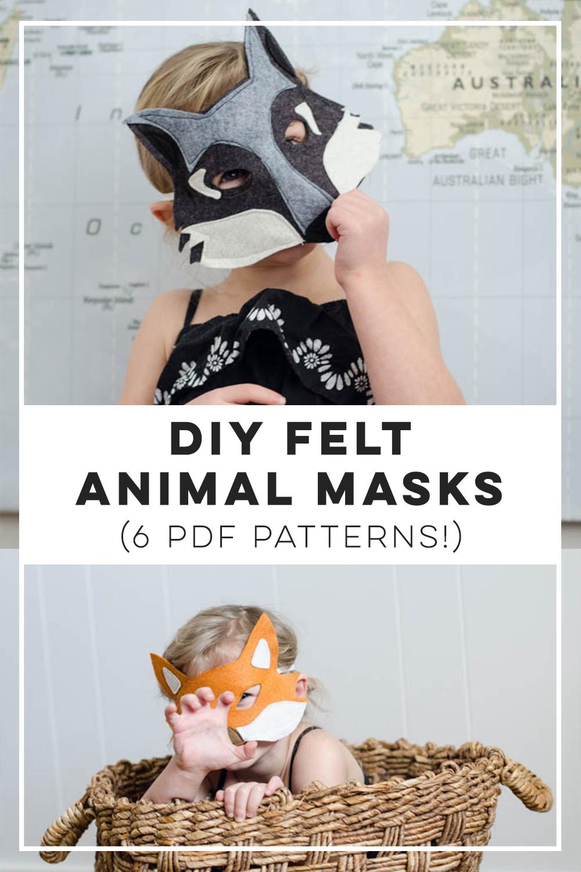 DIY Felt Animal Masks for playtime!