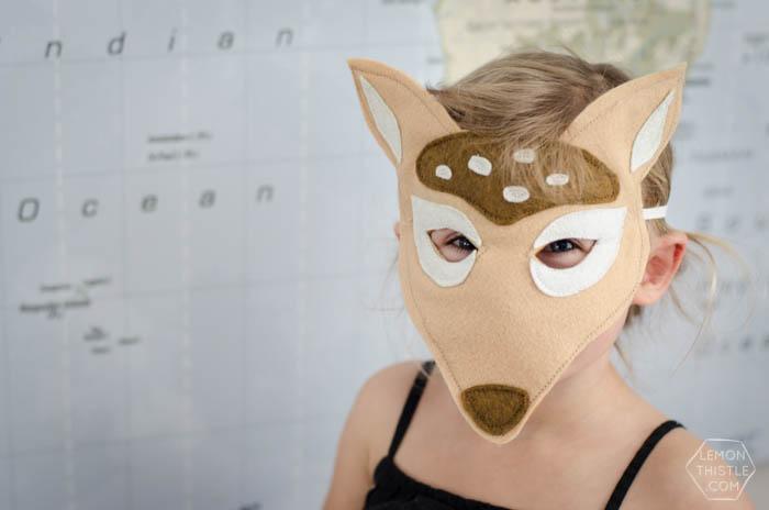 Deer Felt Mask DIY Tutorial