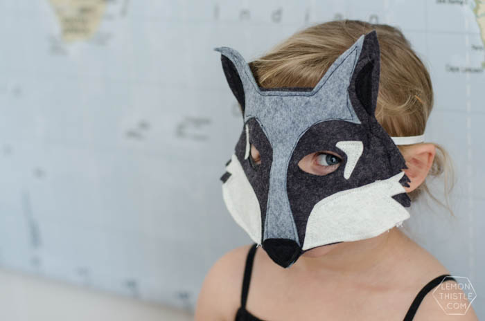 DIY Felt Animal Masks- 6 Free Printable Templates