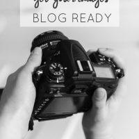 Camera to Web- Blog Photos Process