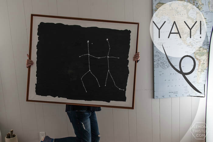 DIY Constellation Painting and Copper Frame