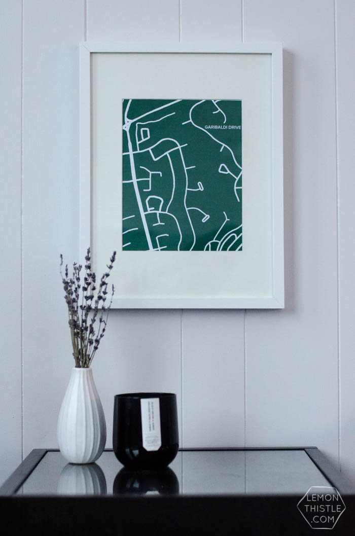 DIY Custom Street Maps Wall Art - Lemon Thistle