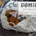 DIY Square Pouff & Sneaky Storage for Kiddos Plush Toys