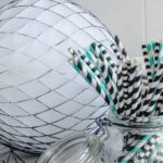 DIY Colour Edged Honeycomb Party Balls