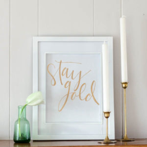 DIY Gold Foil Hand Lettered Wall Art- two free printables for you to foil over! These sayings are perfect for a classy saint patrick's day