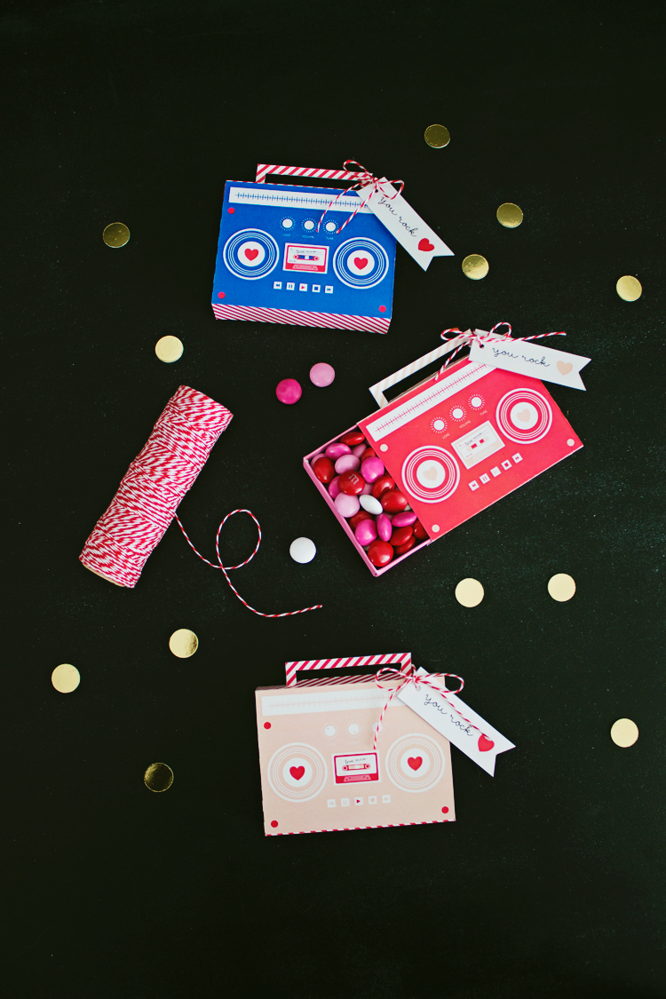DIY Boombox Valentine's (Free Printable)   Like-The-Cheese for Lemon Thistle