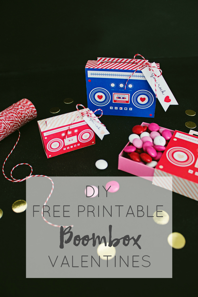 DIY Boombox Valentine's (Free Printable) | Like-The-Cheese for Lemon Thistle