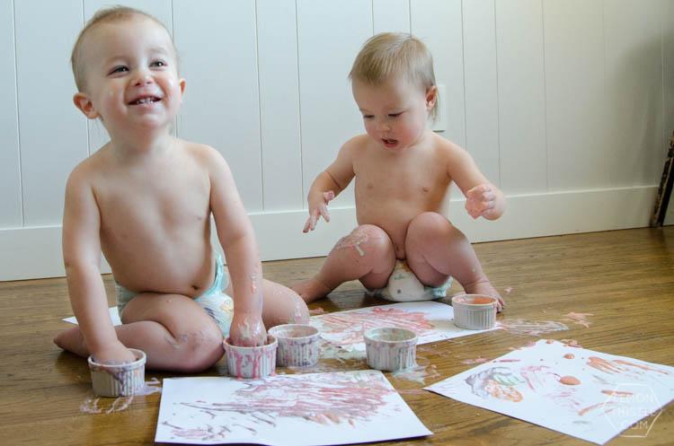 DIY Finger Painted Envelope Valentines- perfect for grandparents!