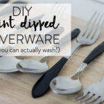 DIY Paint Dipped Silverware (That you can Wash!)