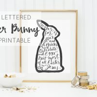 Awesome hand lettered free printable for easter