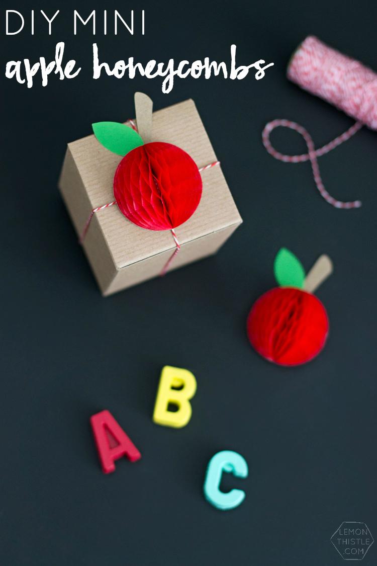 Mini Honeycomb Apples for Teacher Appreciation Week | like-the-cheese.com for Lemon Thistle