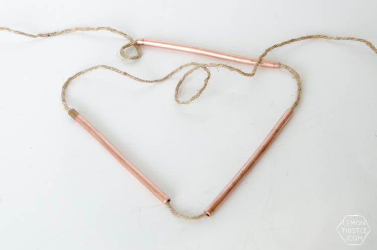 DIY Copper Pipe Bunting