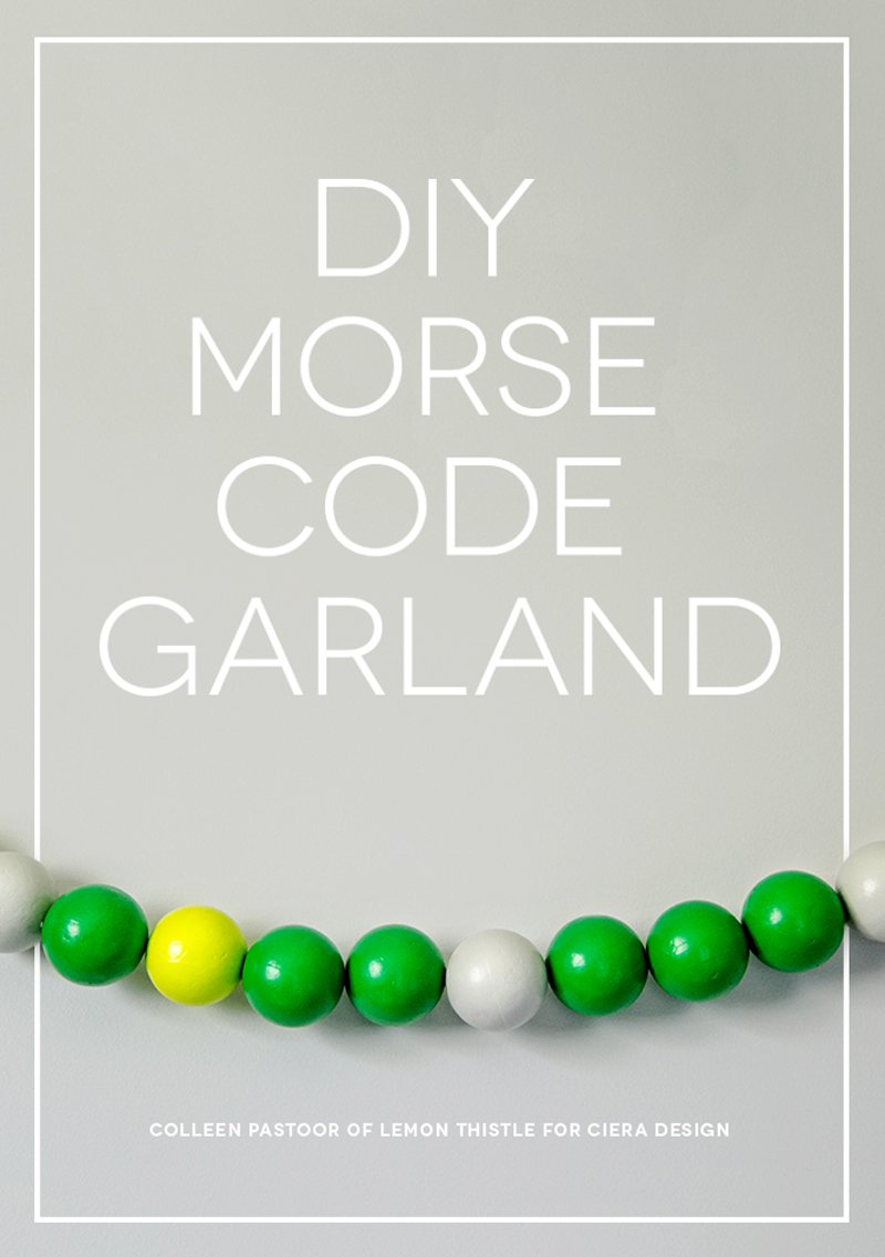 DIY MORSE CODE GARLAND