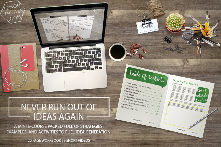 Never Run Out of Ideas Again Share Mini E Course... I love the look of this one!