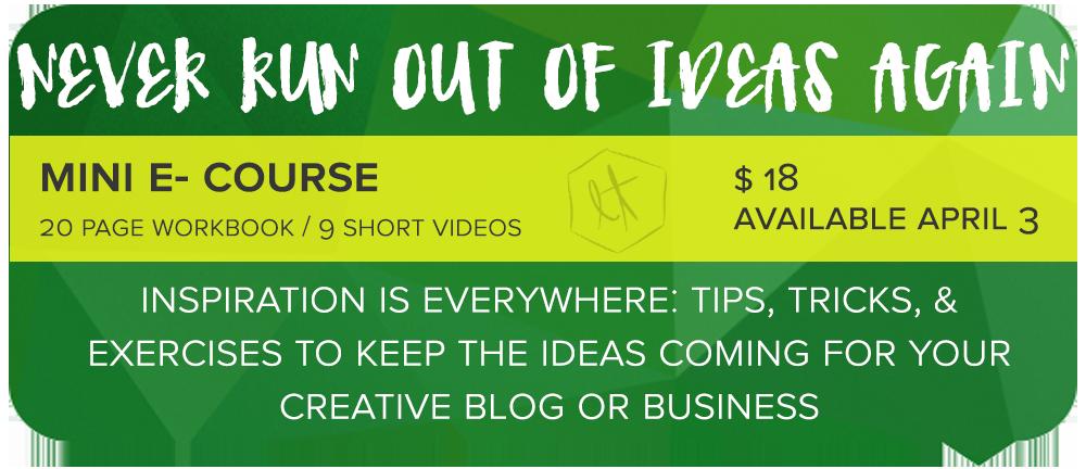 Never Run Out of Ideas Again Share main