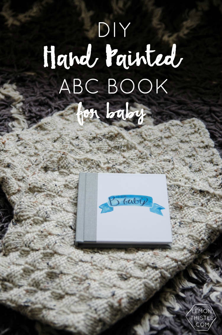Watercolor Abc Book And Painting Party For Baby Lemon Thistle