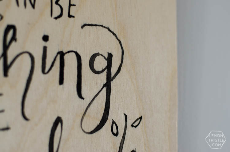 DIY Birch Plywood Hand Lettered Wall Hanging
