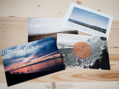 Hand Lettered & Typographic Postcards- Free Download, Product, and Giveaway