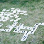 DIY Yard Games Part 2 (Scrabble/Cornhole)