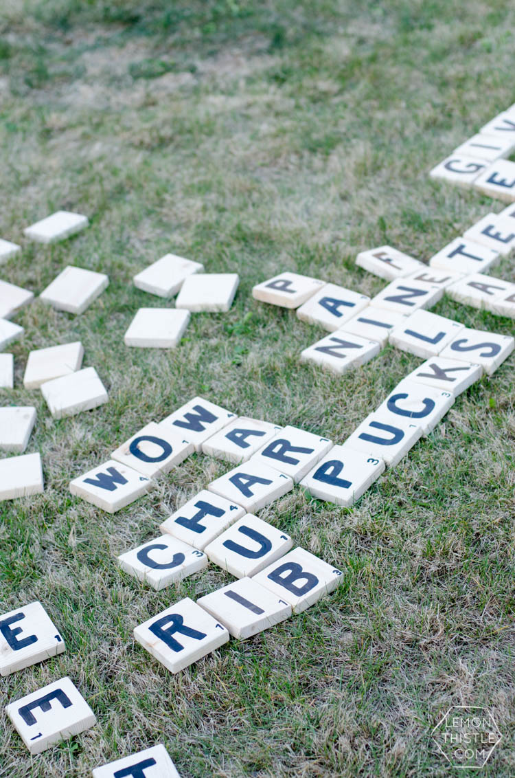 diy yard games part 2 scrabble lemon thistle