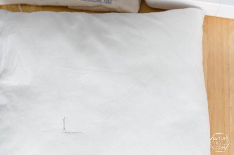 DIY Vintage Oats Pillow Cover