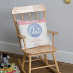 DIY Vintage Oats Pillow Cover