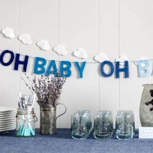 DIY Ombre Felt Lettered Garland... I love this 'Oh Baby' one! So fun for a little boy's baby shower