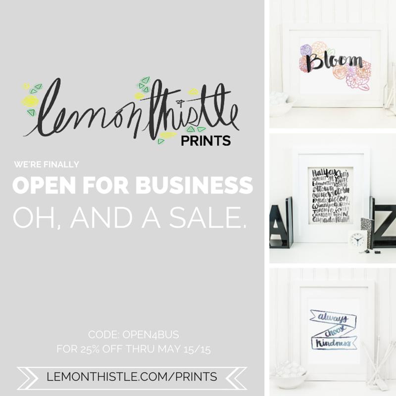 Lemon Thistle Prints- Hand Lettered Digital Downloads is open!