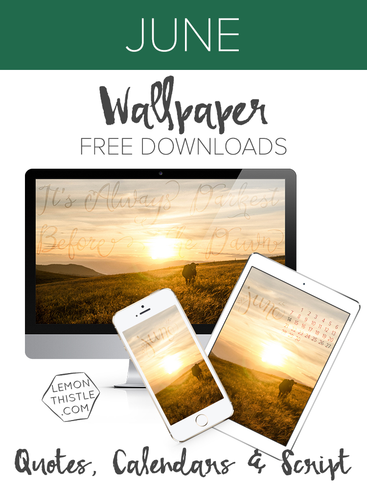 Free Downloadable Tech Wallpapers (i Phone, tablet and desktop) 'It's always Darkest before the Dawn'