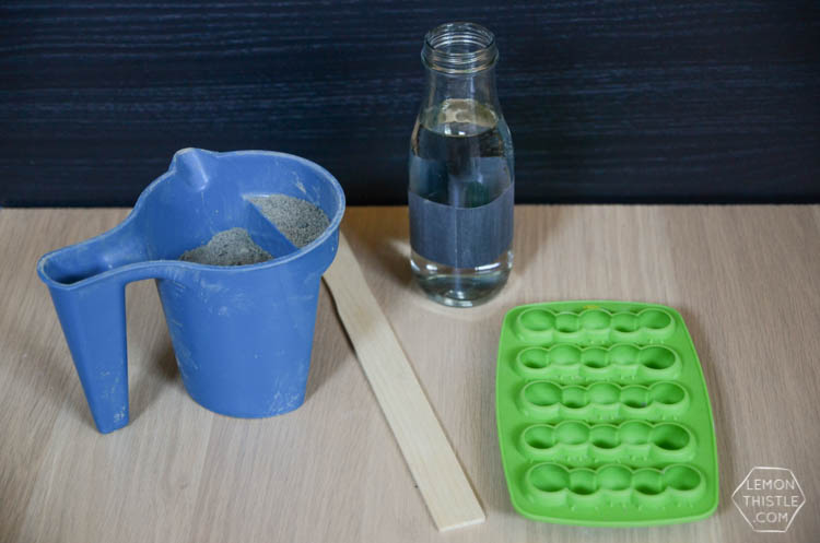 DIY Cement Garden Markers- from ice cube trays!