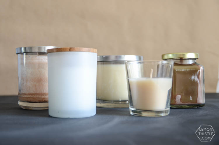 DIY Manly Candles with free printable labels- perfect gift idea for fathers day!
