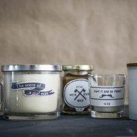 DIY Manly Candles with free printable labels