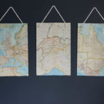 DIY Vintage Map Triptych Art