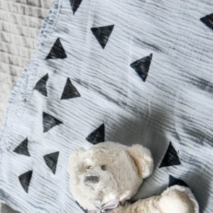 DIY Hand Stamped Blanket