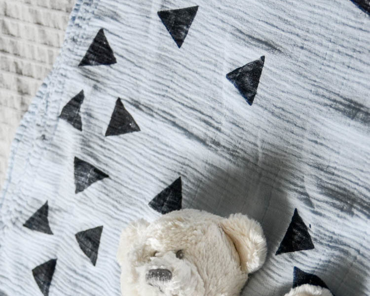 DIY Hand Stamped Blanket