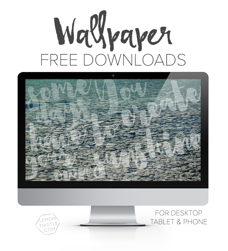 Free downloadable tech wallpapers! Quote, calendar, or script for desktop, tablet, or phone!