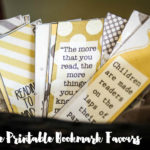 Book Baby Shower Bookmark Favours- Free Printable