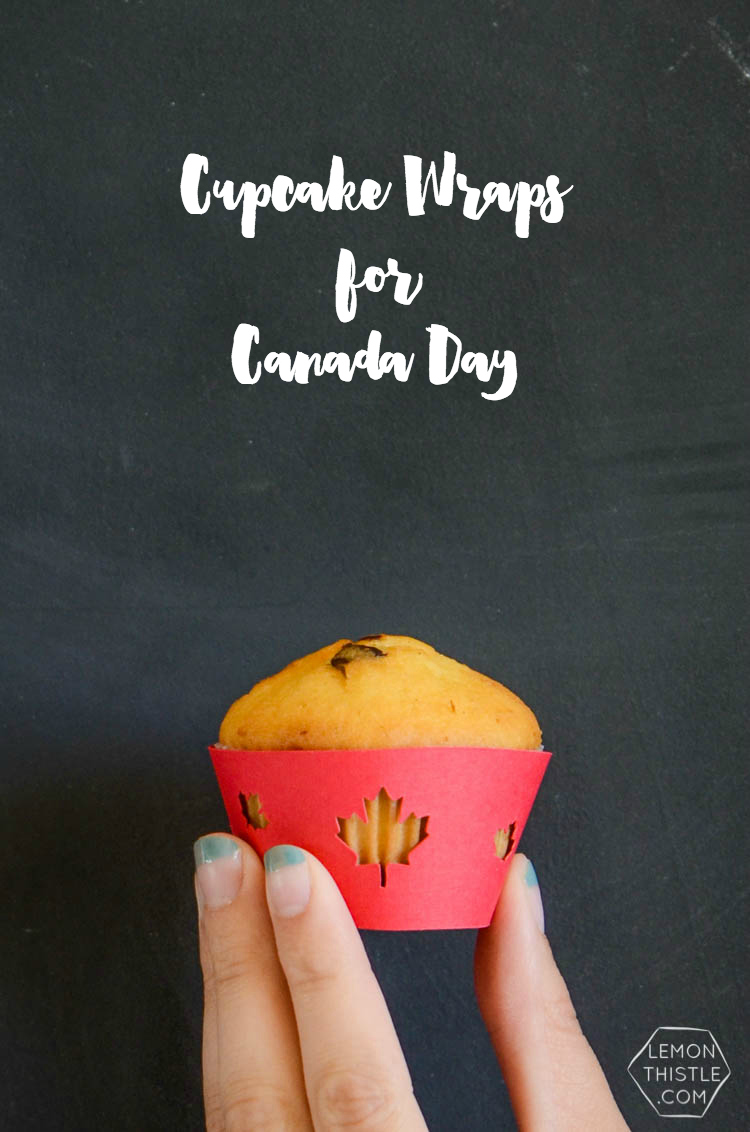 DIY Canada Day Ice Cream and Cupcake Wraps- free template!