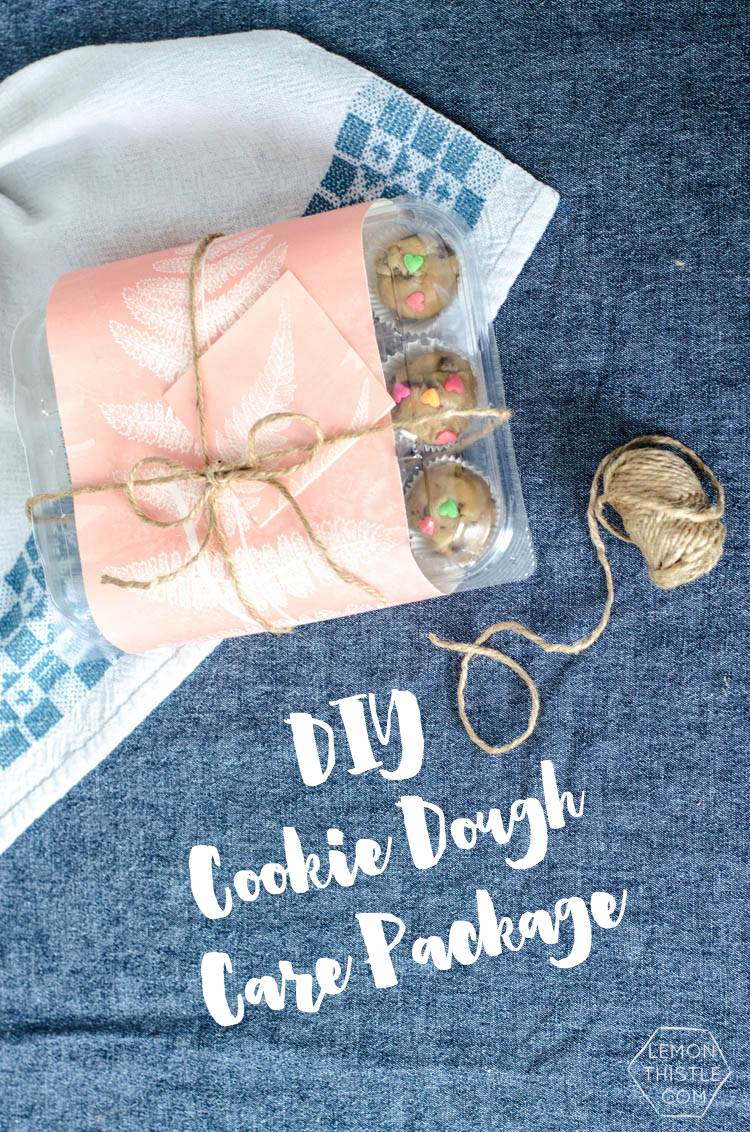 DIY Cookie Dough Care Package- what a great gift idea for a new mom!